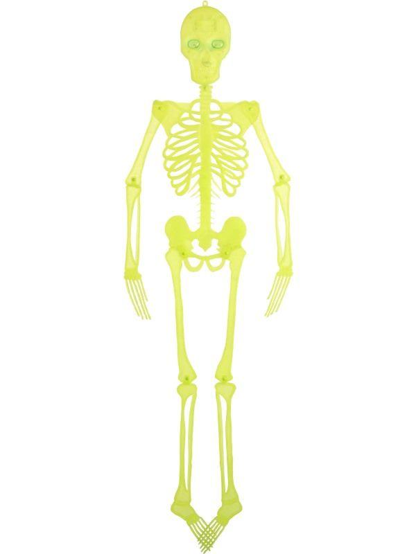 Kostlivec - neon na pověšení 150cm (57) Smiffys.com