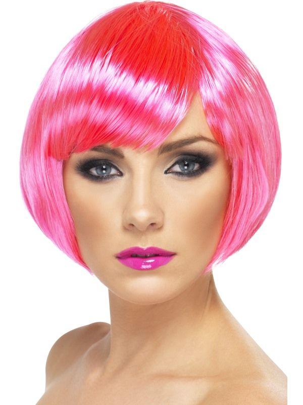 Paruka babe neon růžová (3-D) Smiffys.com