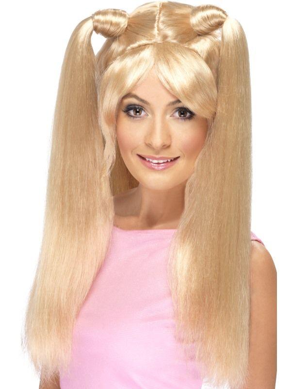 Paruka s culíky blond (4-G) Smiffys.com