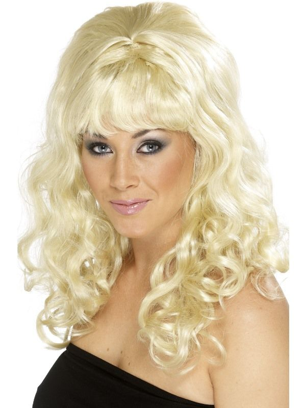 Paruka Beehive Beauty blond kudrnatá (4-D) Smiffys.com