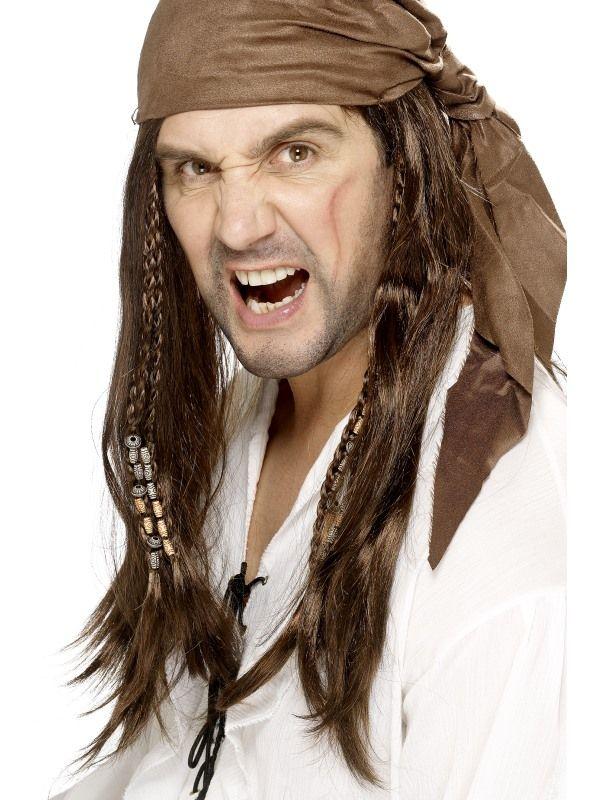 Paruka pirát hnědá pánská (2-A) Smiffys.com