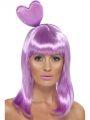 Paruka Candy Queen se srdcem lila (3-D)