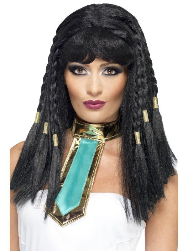 Paruka kleopatra černá (5-E) Smiffys.com