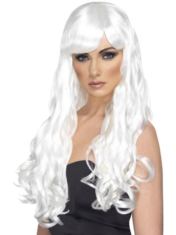 Paruka desire bílá dlouhá (4-C) Smiffys.com