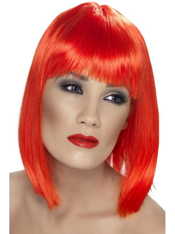 Paruka - Glam - neon červená (3-C) Smiffys.com