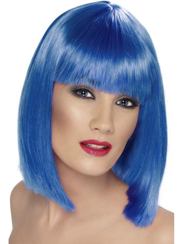 Paruka - Glam - modrá (6-H) Smiffys.com