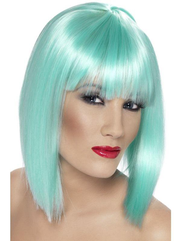 Paruka - Glam - neon - aqua (6-H) Smiffys.com