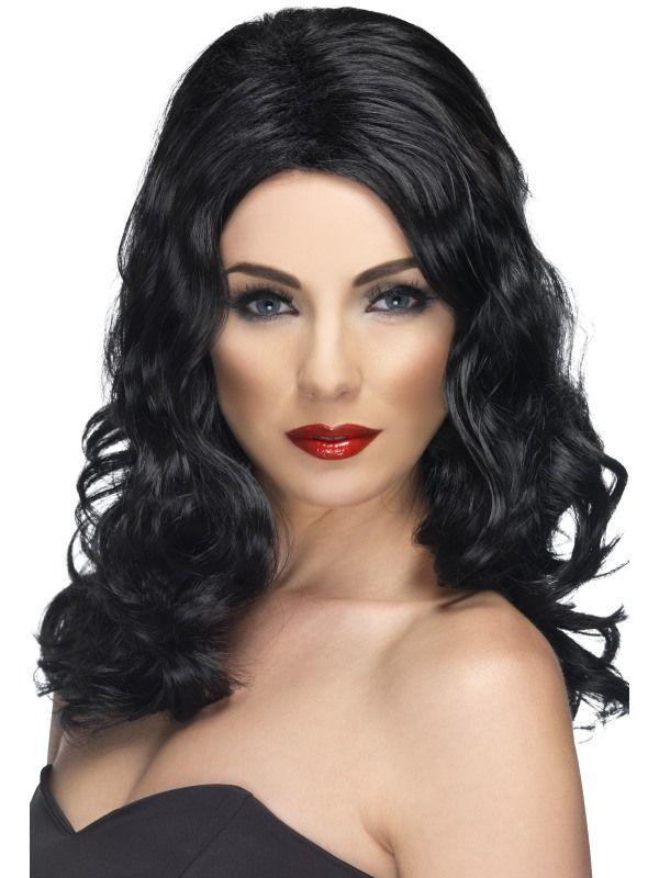 Paruka Glamorous černá (5-A) Smiffys.com