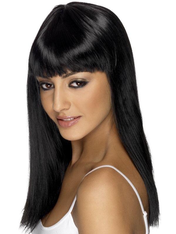 Paruka - Glamourama - černá (5-E) Smiffys.com