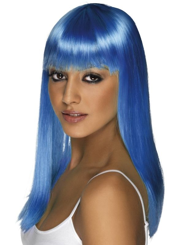 Paruka - Glamourama - modrá (6-H) Smiffys.com