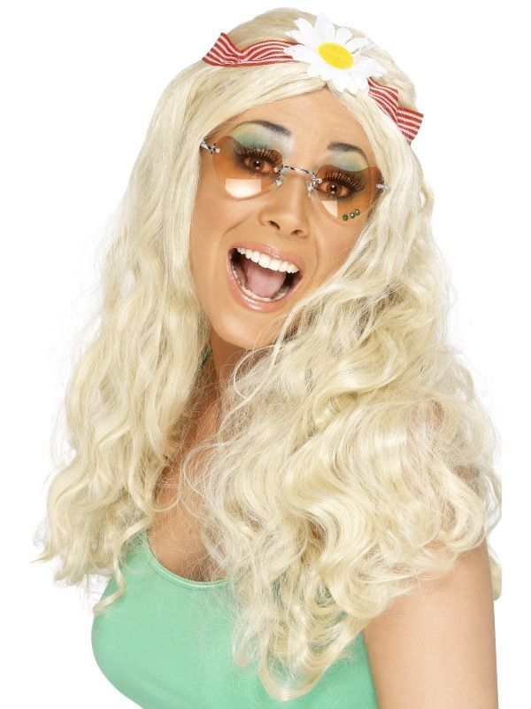 Paruka Hipís blond ( 4-G) Smiffys.com