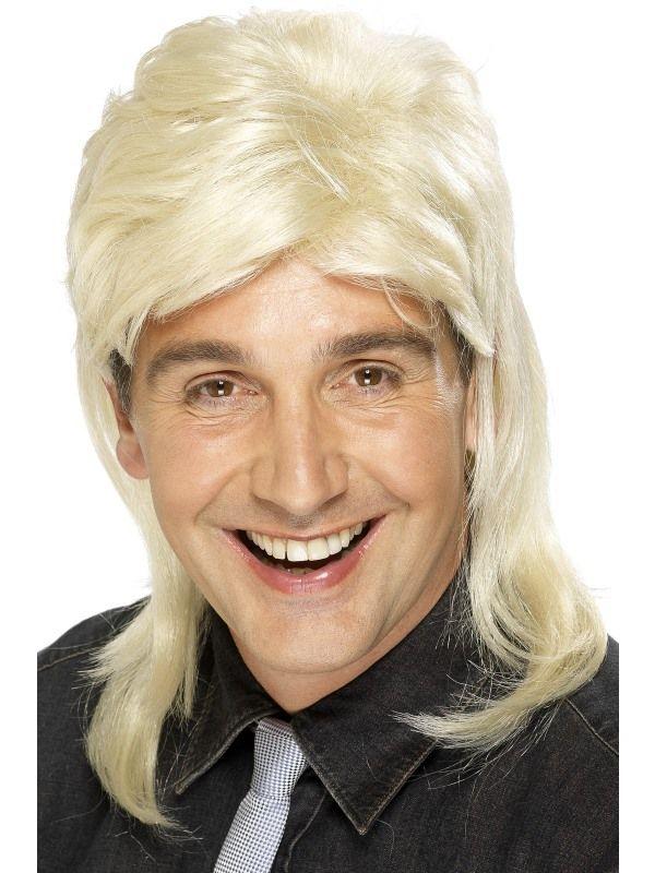 Paruka 80léta Mullet Jason blond (2-H) Smiffys.com
