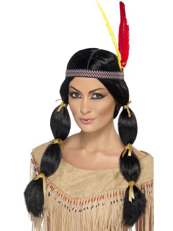Paruka indiánka (5-H) Smiffys.com