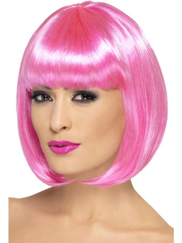 Paruka partyrama růžová (3-D) Smiffys.com