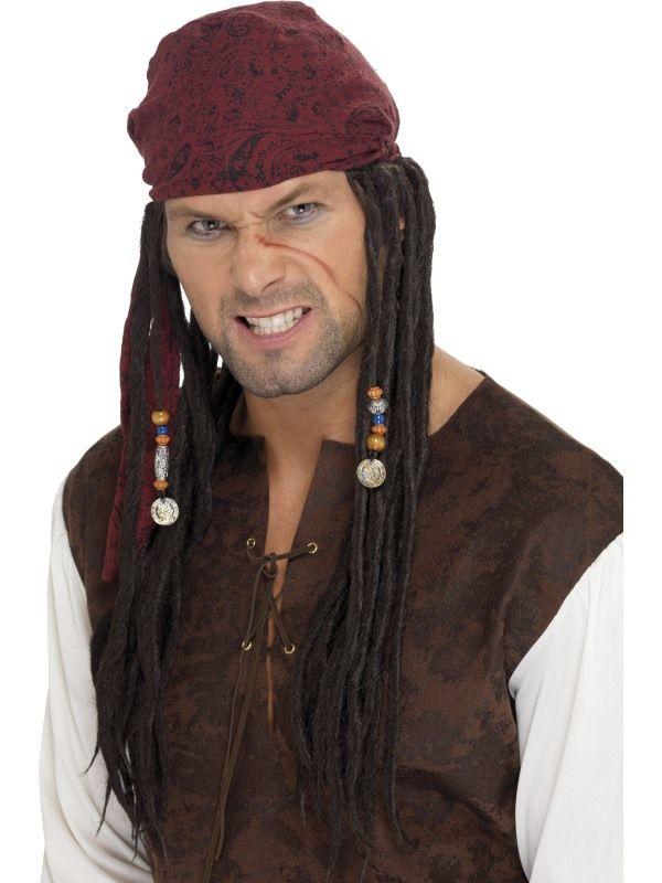 Paruka pirát hnědá (2-A) Smiffys.com