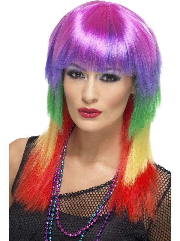 Paruka Rainbow rocker (3-G) Smiffys.com