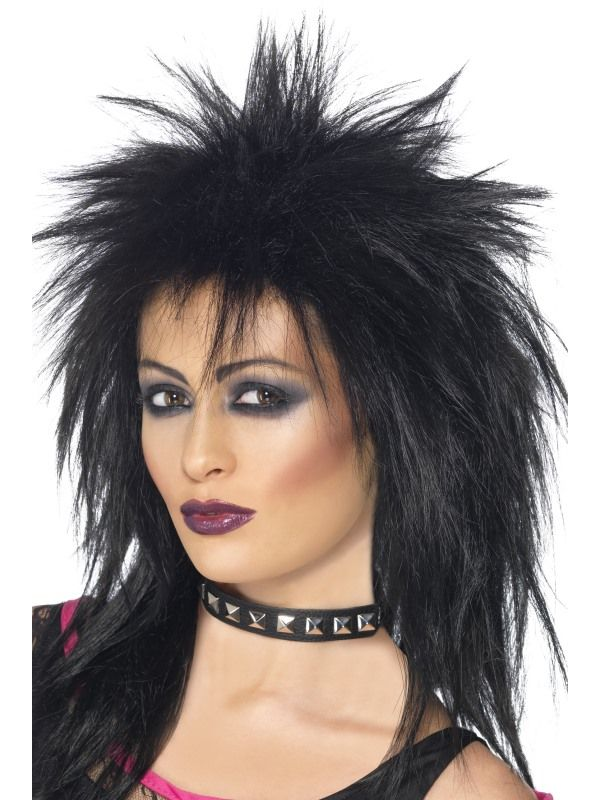 Paruka Rock diva černá (5-C) Smiffys.com