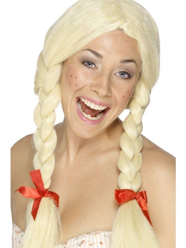 Paruka školačka blond s copy (4-E) Smiffys.com