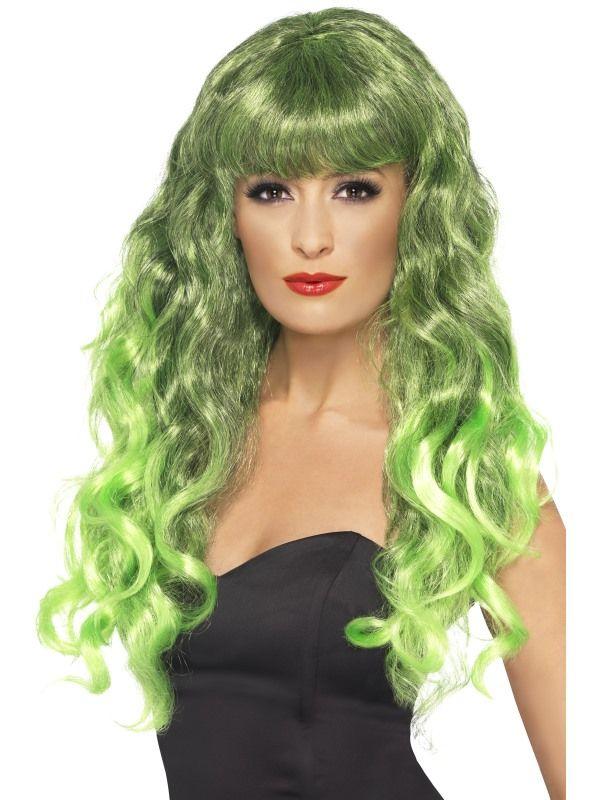 Paruka Sirena zelená (6-G) Smiffys.com