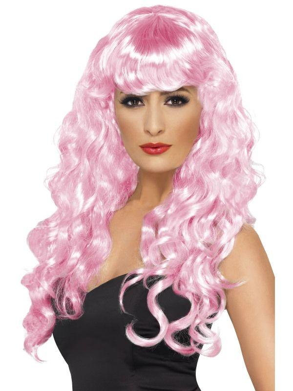 Paruka Siréna světle růžová Smiffys.com