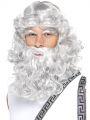 Paruka Zeus - šedá, vousy,obočí (1-D)