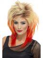Paruka  Mullet 80léta blond/červená (3-G)