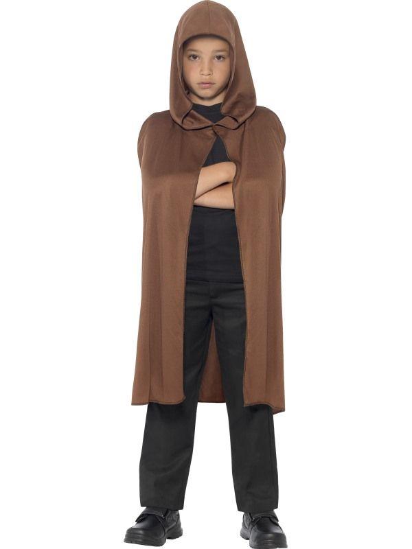 Dětský plášť - hnědý s kapucí (84-E) Smiffys.com