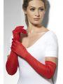 Rukavice červené dlouhé (35-C)