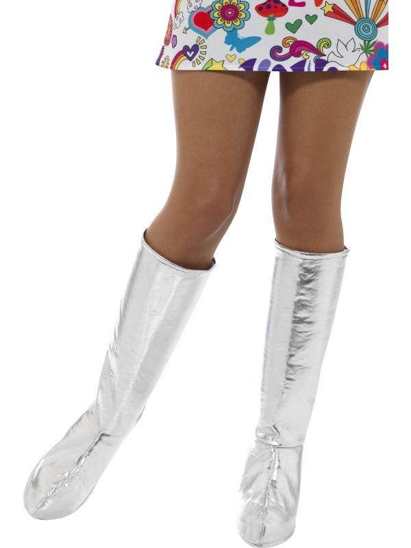 Návleky na boty - stříbrné (53) Smiffys.com
