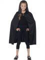 Dětský plášť s kapucí - černý (84-E)
