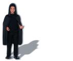 Dětský plášť s kapucí - černý (84-E) Smiffys.com