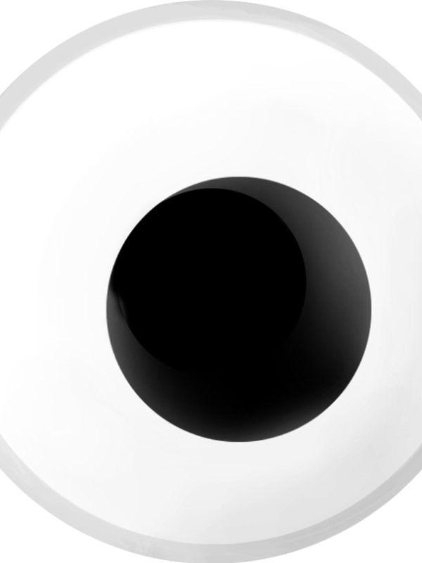 Oční čočky bílé 1 denní (74D) Smiffys.com