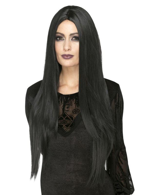 Paruka čarodějnice - černá dlouhá (7) Smiffys.com