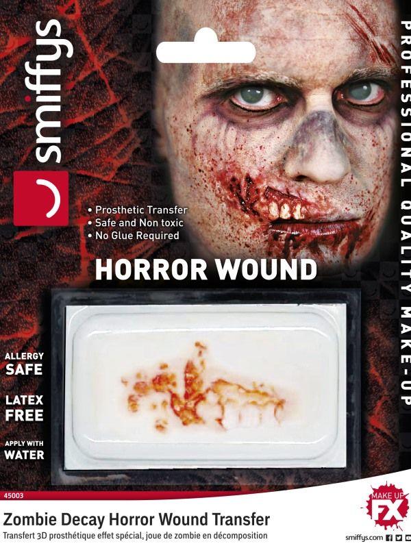 Jizva - Zranění - Zombie rozpadání (48-C) Smiffys.com