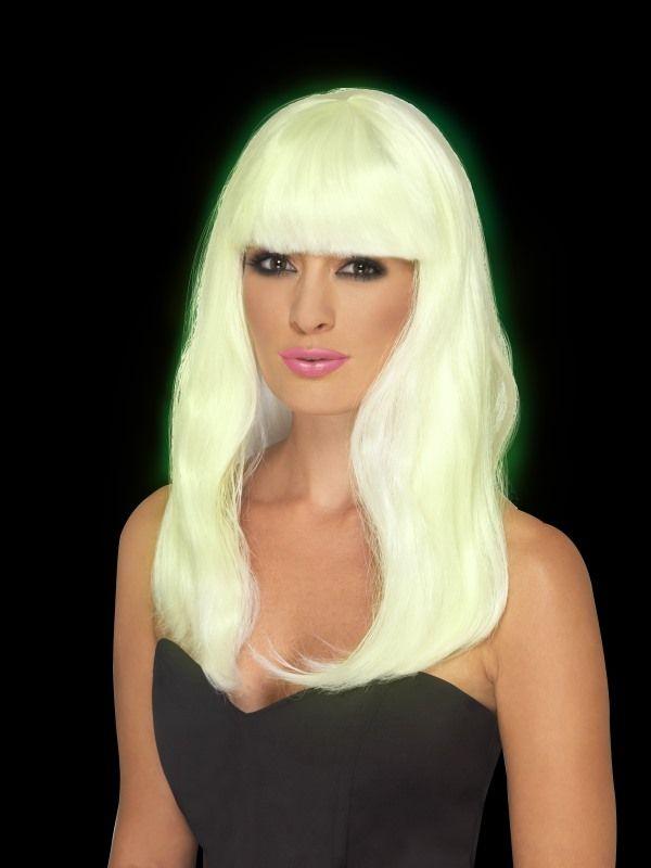 Paruka Glam - svítící ve tmě (4-D) Smiffys.com