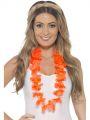 Věnec na krk oranžový - havaj (24-J)