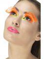 Řasy - Polka Dot - neonové oranžové