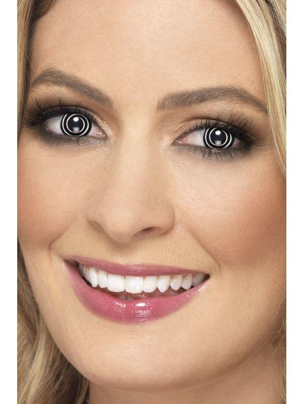 Oční čočky spirála černá - (74D) Smiffys.com