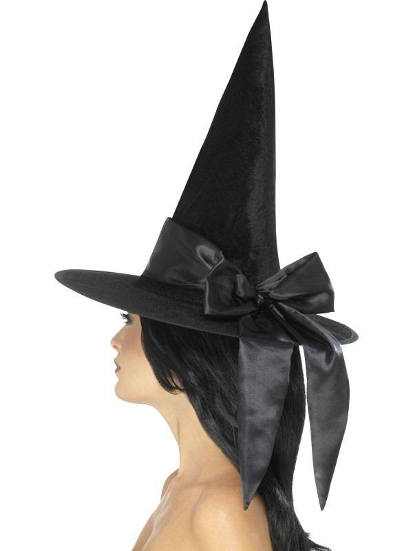 Klobouk čarodějnice s černou mašlí (121-A) Smiffys