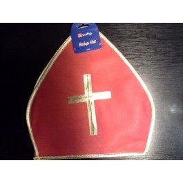 Čepice - Mikuláš červená - MITRA (119 - A,124) Smiffys.com