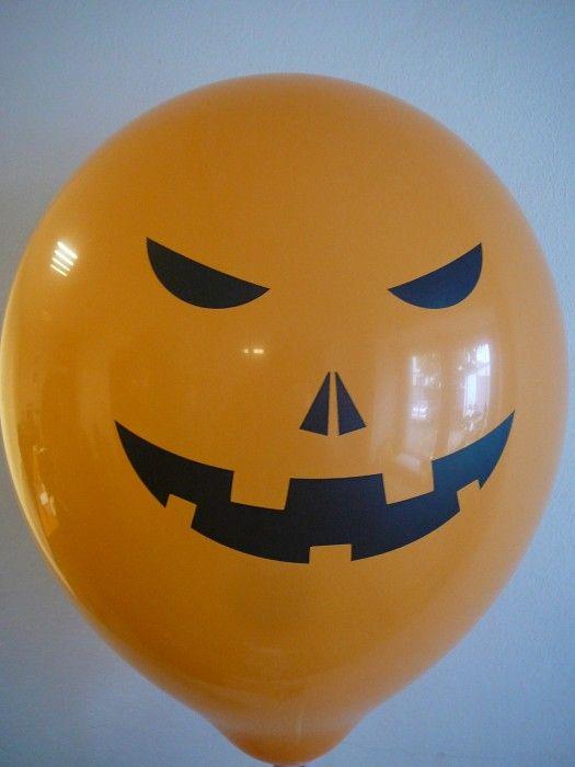 Balónek - Halloween oranžový - (12-E) Globos.cz
