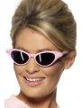 Brýle růžové s kamínky (48-C)