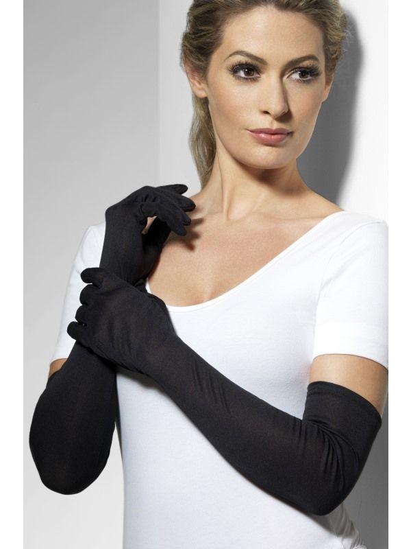 Rukavice černé dlouhé (38-A,18A) Smiffys.com