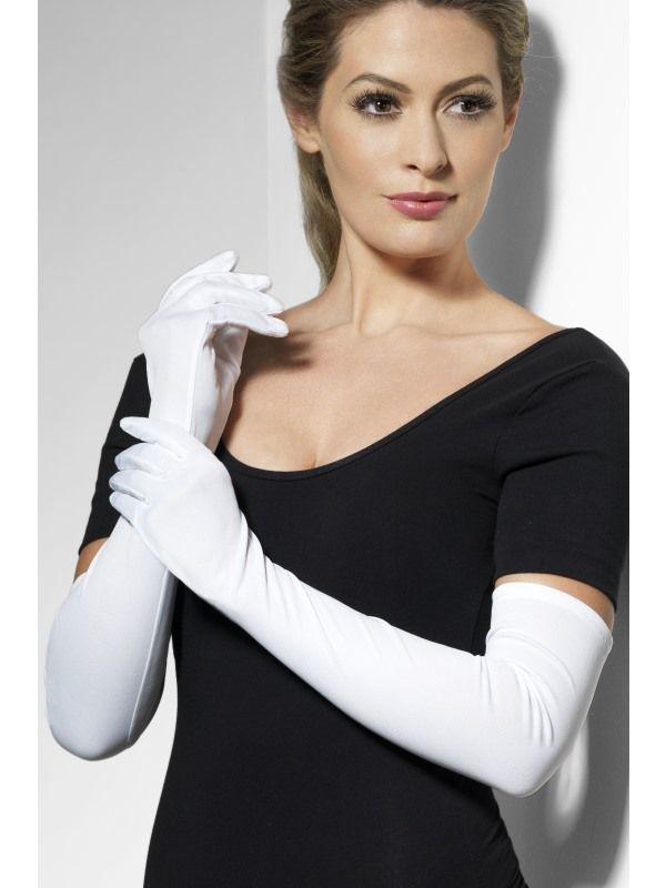 Rukavice bílé dlouhé (35-A) Smiffys.com