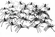 Pavoučci - 144 ks , 2cm  (92)