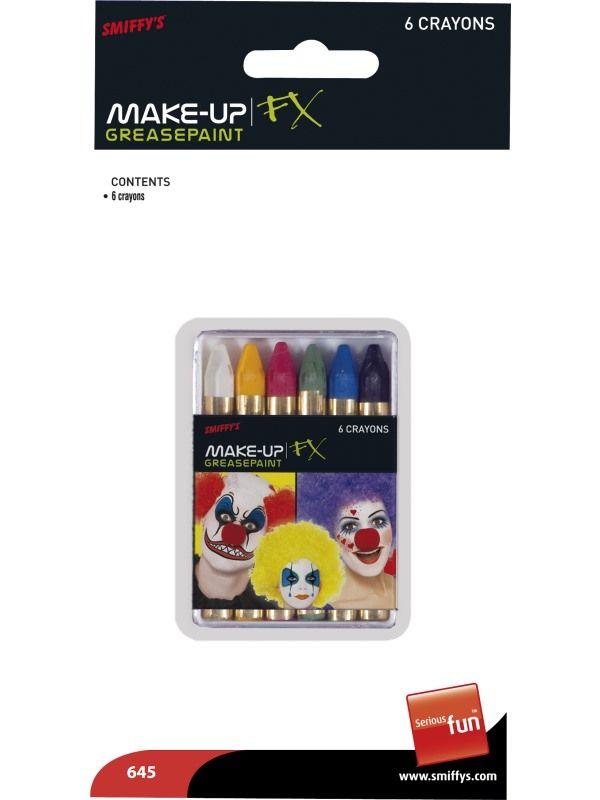 Pastelky 6ks na obličej (14-E) Smiffys.com