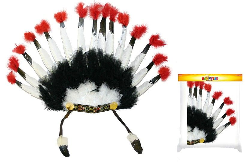 Čelenka Indiánská - ČB (62) Rappa