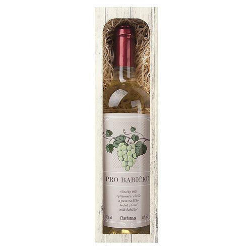 Dárkové víno - Babičce - bílé 750 ml Mediabox