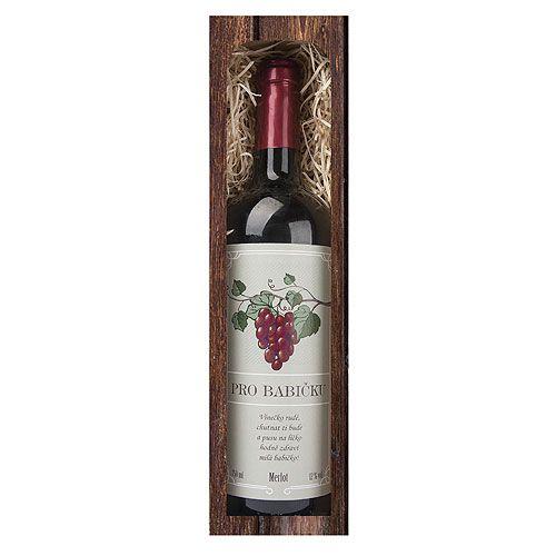 Dárkové víno - Babičce - červené 750 ml Mediabox