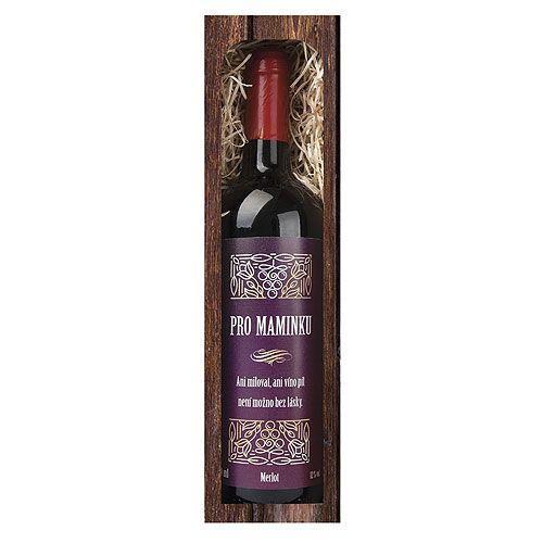 Dárkové víno - Mamince - červené 750ml Mediabox